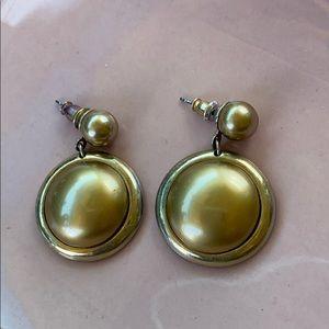Beautiful Tahari gold earrings dept store NWOT